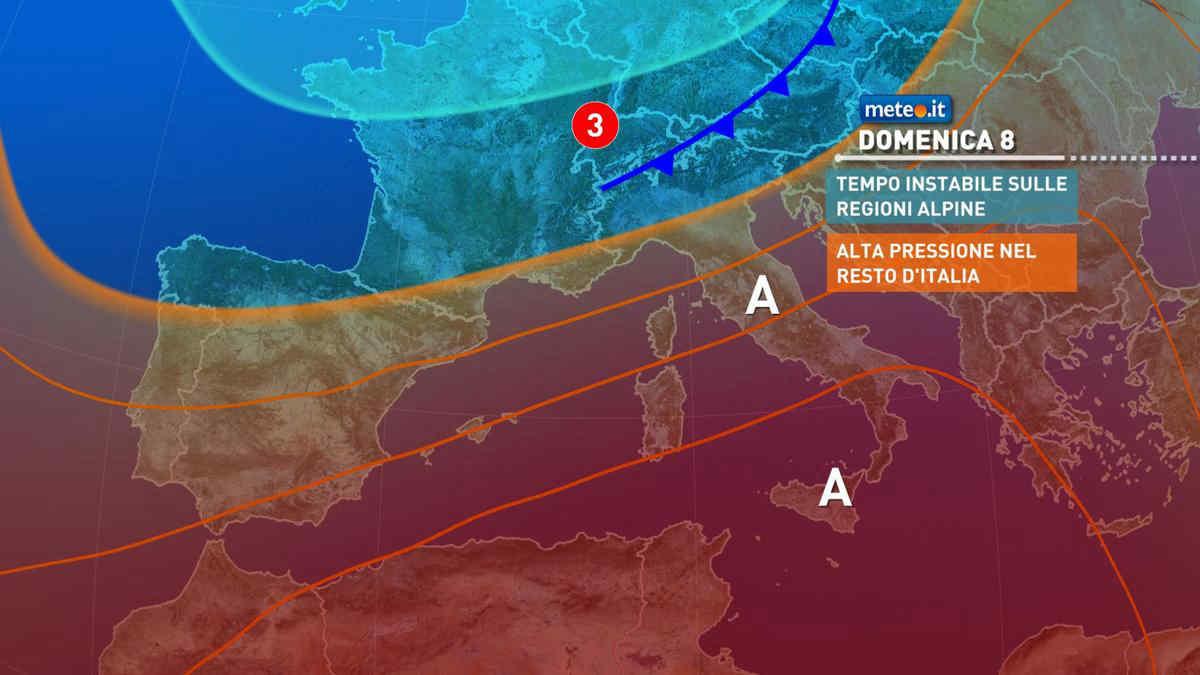 Meteo, da domenica 8 agosto nuova e intensa ondata di caldo sull'Italia