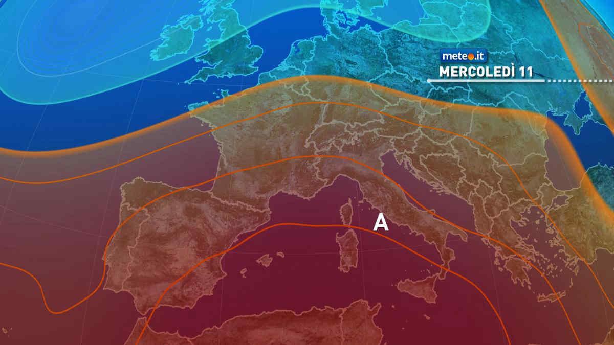 Meteo, 11 agosto caldissimo sull'Italia: punte di 43-45 gradi