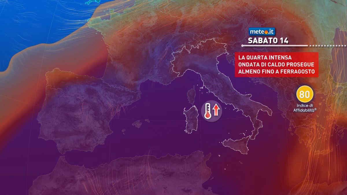 Meteo, weekend di Ferragosto rovente: punte di 38-40 gradi