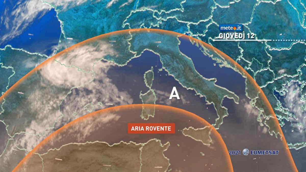 Meteo giovedì 12 agosto, l'Italia bolle da nord a sud