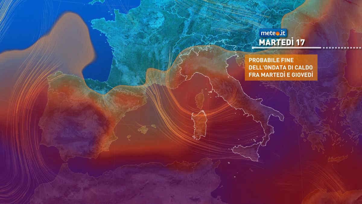 Da martedì 17 agosto termina l'intensa ondata di caldo