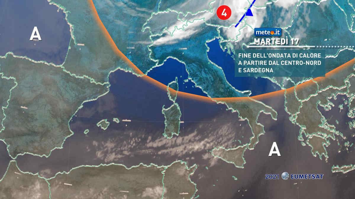 Meteo, 17 agosto con calo termico al Centro-nord e Sardegna