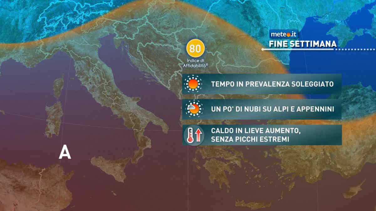 Meteo, nel weekend del 21-22 agosto l'alta pressione africana tornerà a rinforzarsi