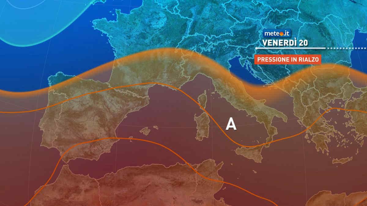 Meteo, da sabato 21 torna l'alta pressione con caldo in nuovo aumento