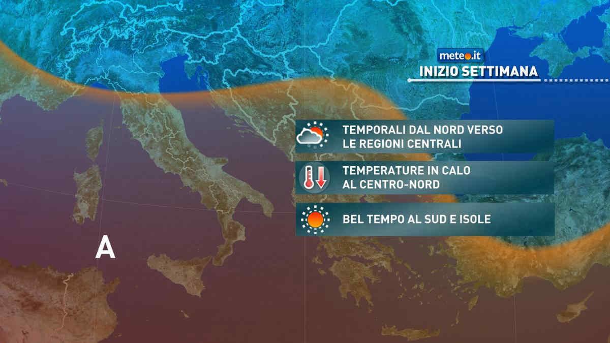 Meteo, da lunedì 23 agosto maggiore variabilità e atmosfera instabile