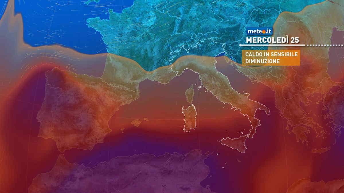 Meteo, tra il 23 e il 25 agosto forti temporali e calo termico al Centro-Nord