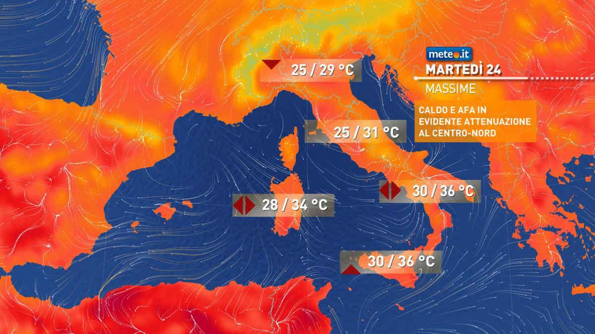 Meteo, oggi martedì 24 agosto, instabile al Centro-Nord