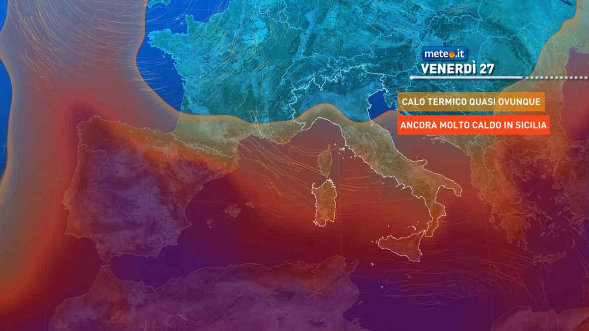 Meteo, da venerdì 27 nuovi temporali e aria più fresca sull'Italia