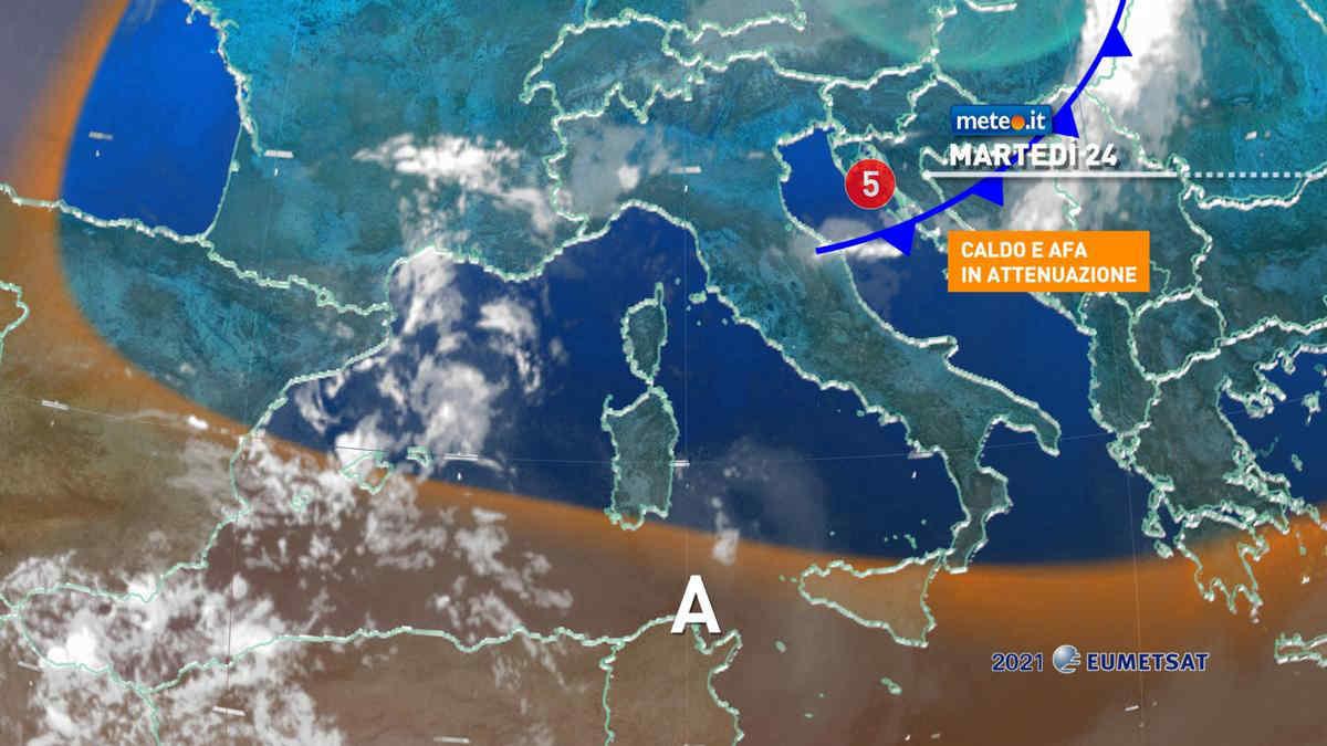 Meteo, martedì 24 temporali e calo termico al Centro-Nord