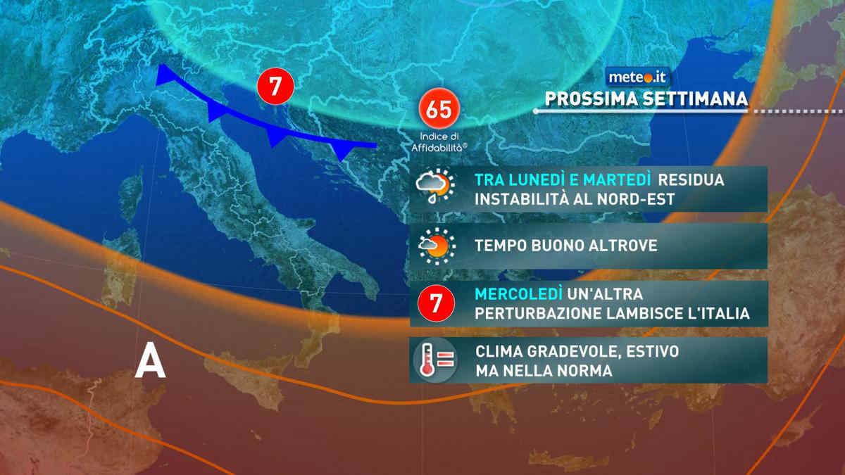 Meteo, tempo variabile e clima gradevole fino a fine agosto