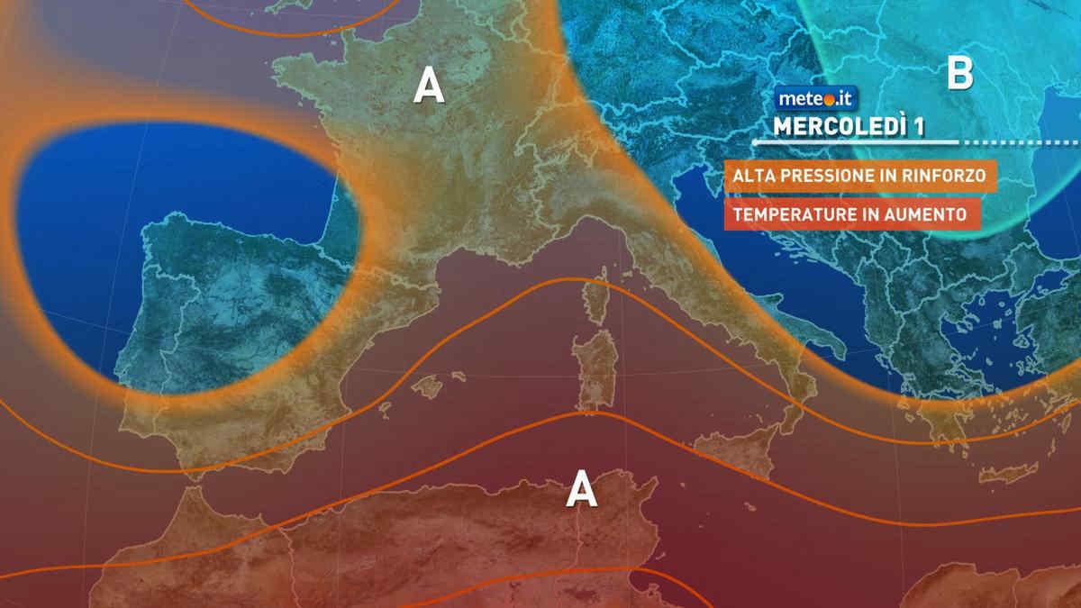 Meteo, settembre al via con l'alta pressione sull'Italia
