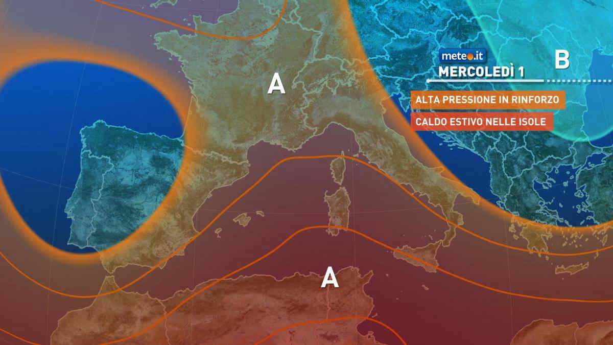 Meteo, 1 settembre con tempo stabile e soleggiato sull'Italia