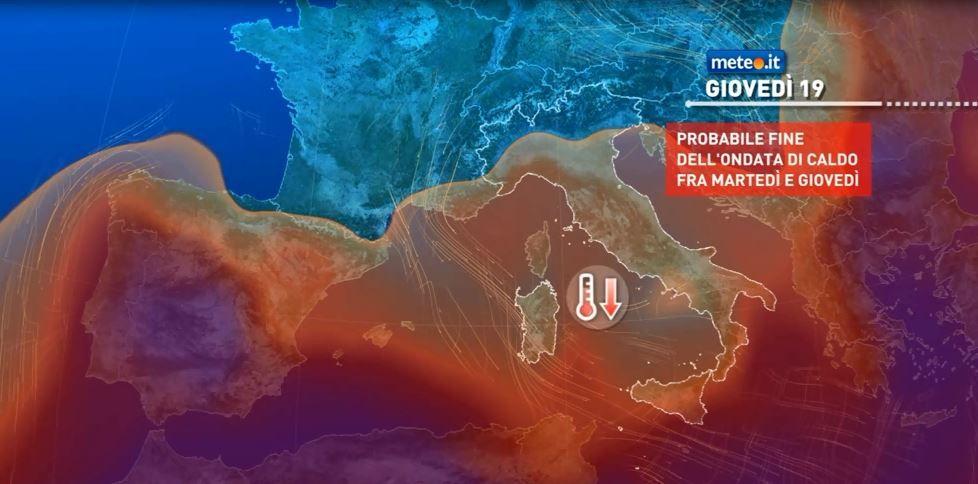 Meteo, dal 17 agosto graduale calo termico e fine del caldo intenso