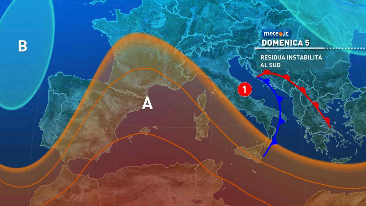 Meteo, sabato 4 settembre perturbazione al Centro-Sud