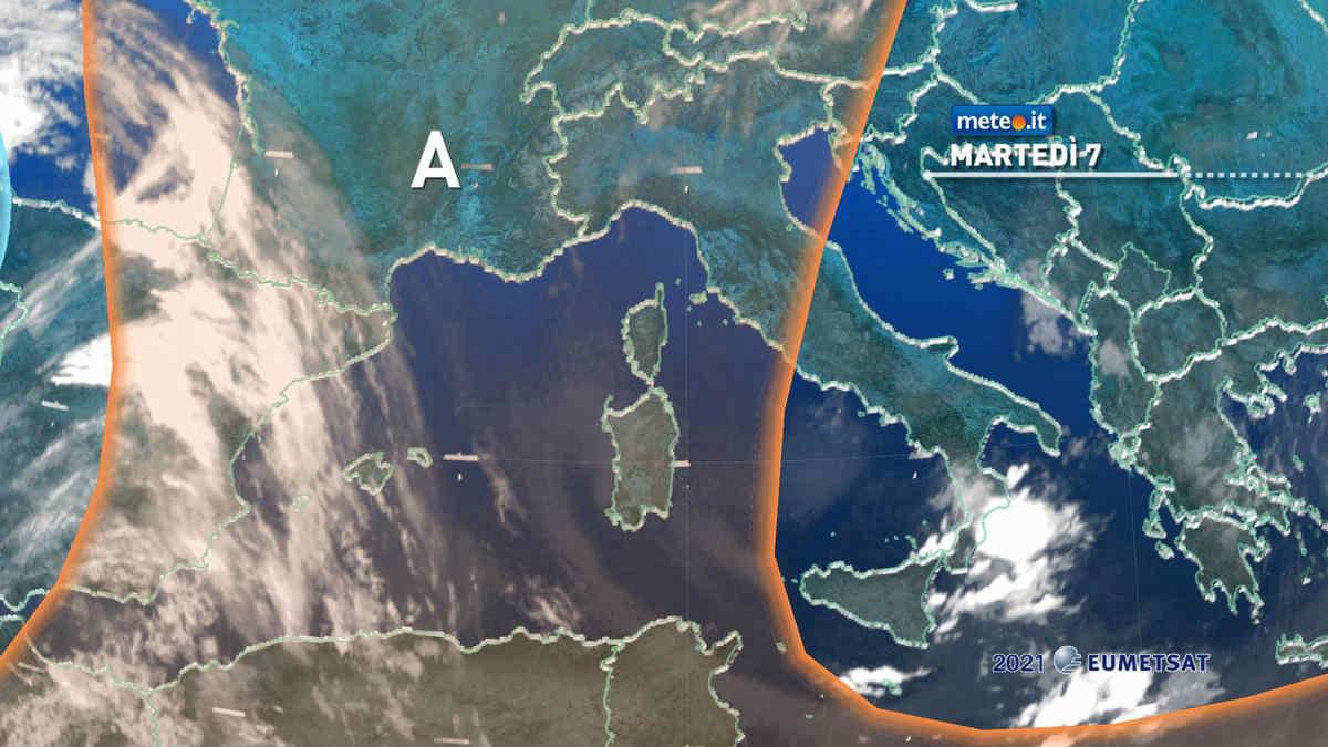 Meteo, martedì 7 ancora con rischio di forti temporali al Sud e in Sicilia