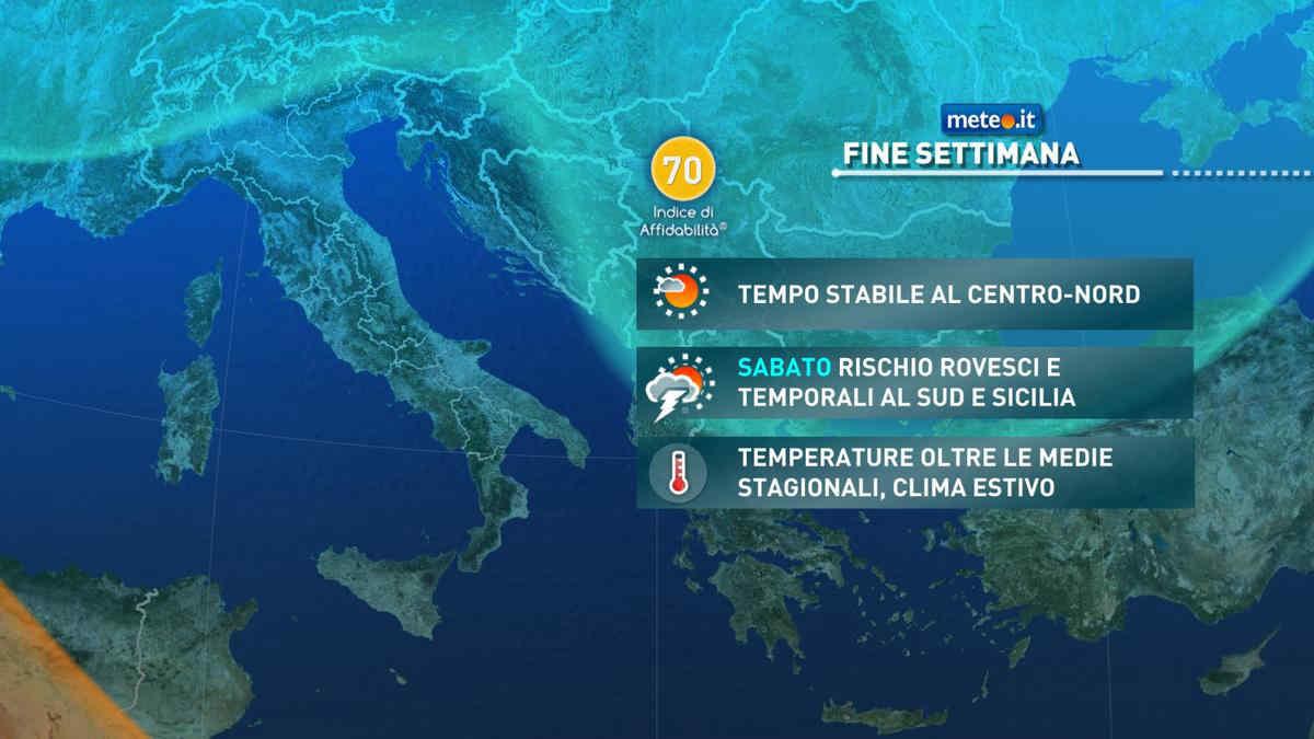 Meteo, weekend dell'11-12 settembre con temporali al Sud e Sicilia