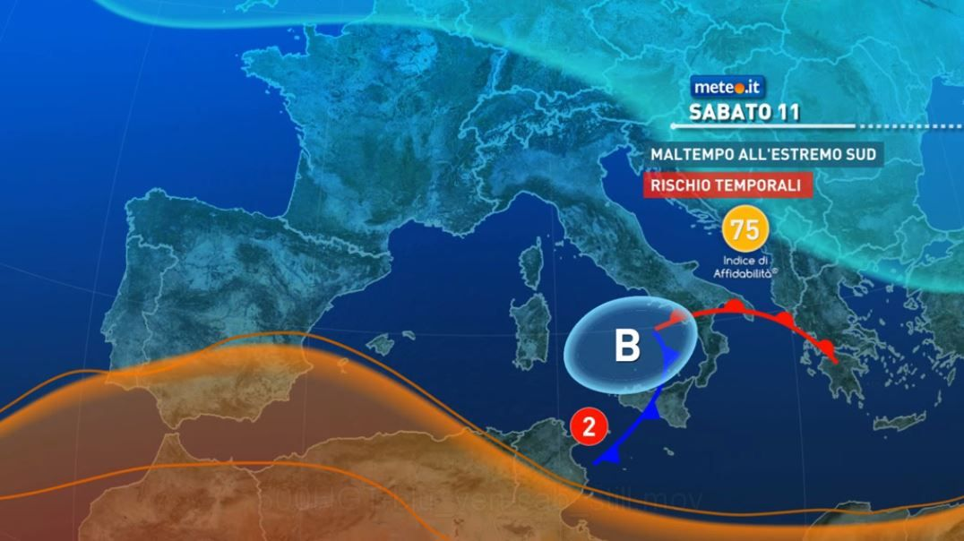 Meteo, venerdì 10 forte maltempo in Sardegna