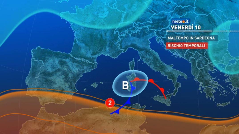 Meteo, dal 9 settembre perturbazione sulle Isole e al Sud: rischio nubifragi e forti temporali