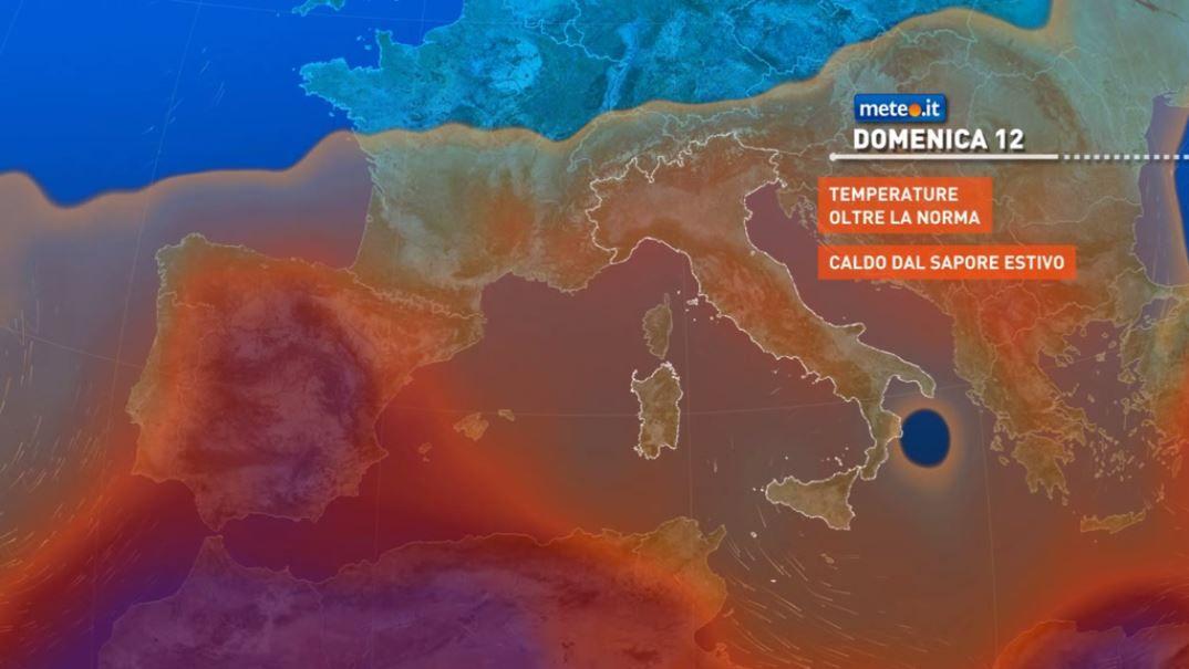 Meteo, domenica 12 migliora al Sud e in Sicilia