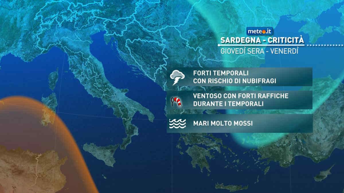 Meteo, 10 e 11 settembre vortice di maltempo su Sardegna, Sicilia e Sud Italia