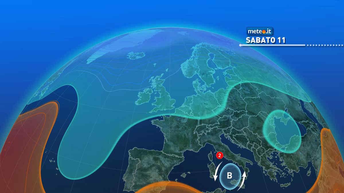 Meteo, sabato 11 maltempo verso Sud e Sicilia: rischio di forti temporali