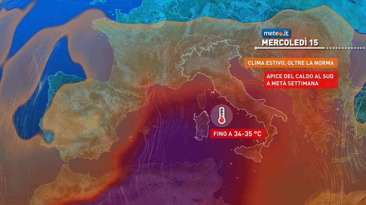 Meteo, dal 15 settembre caldo estivo al Sud e fase instabile al Nord