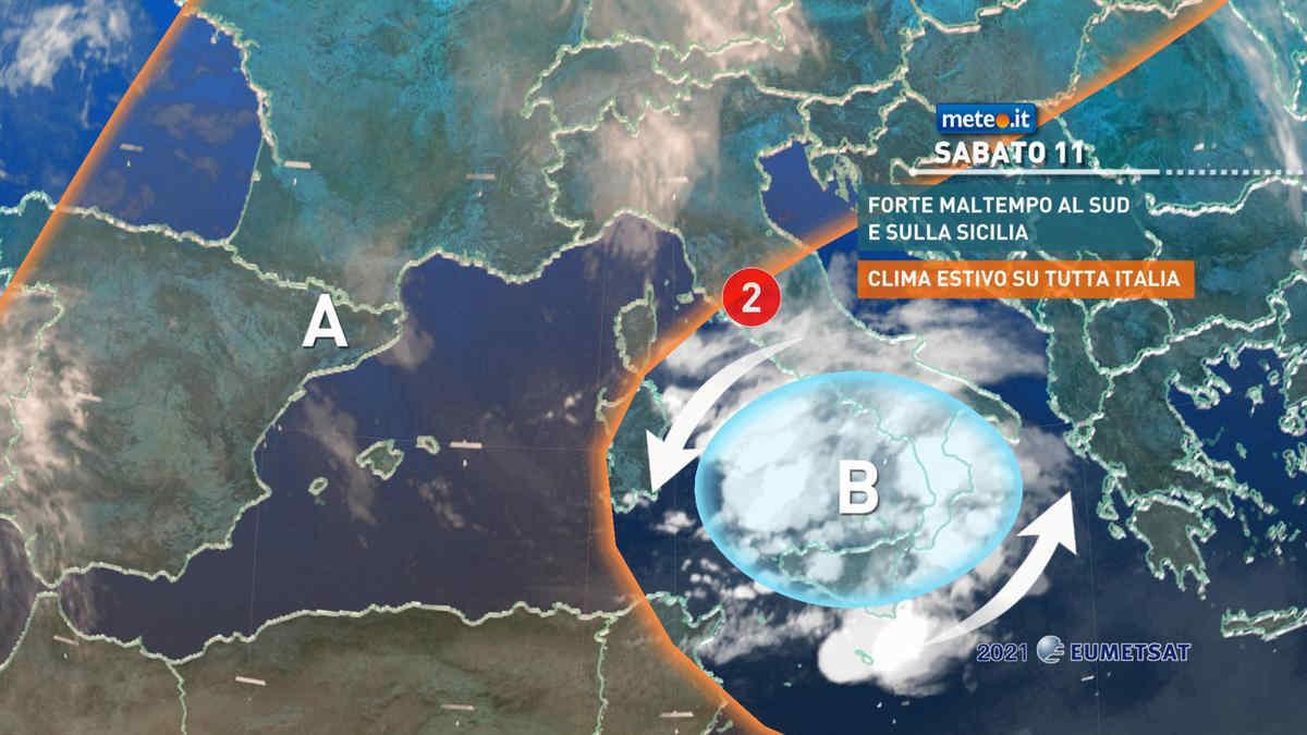 Meteo, 11 settembre con rischio nubifragi al Sud e Sicilia