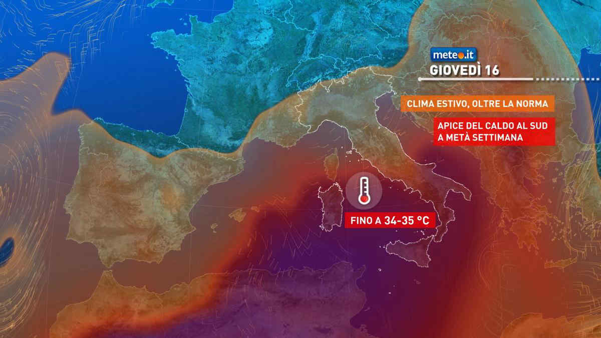 Meteo, giovedì 16 settembre tempo più instabile al Nord e in Toscana