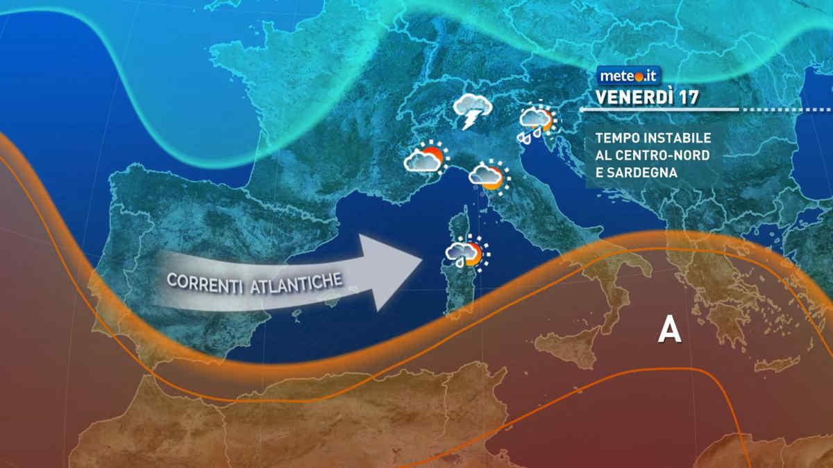 Meteo, weekend del 18 e 19 con rischio di nuovi forti temporali