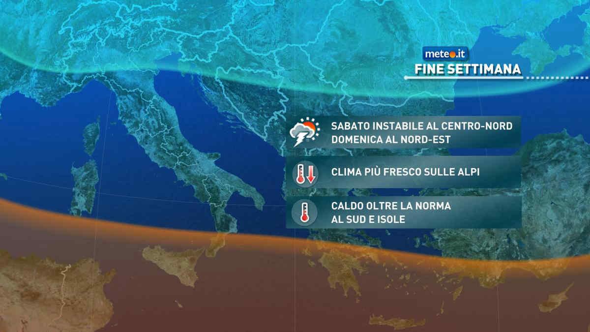 Meteo, Italia divisa in due nel weekend del 18-19 settembre