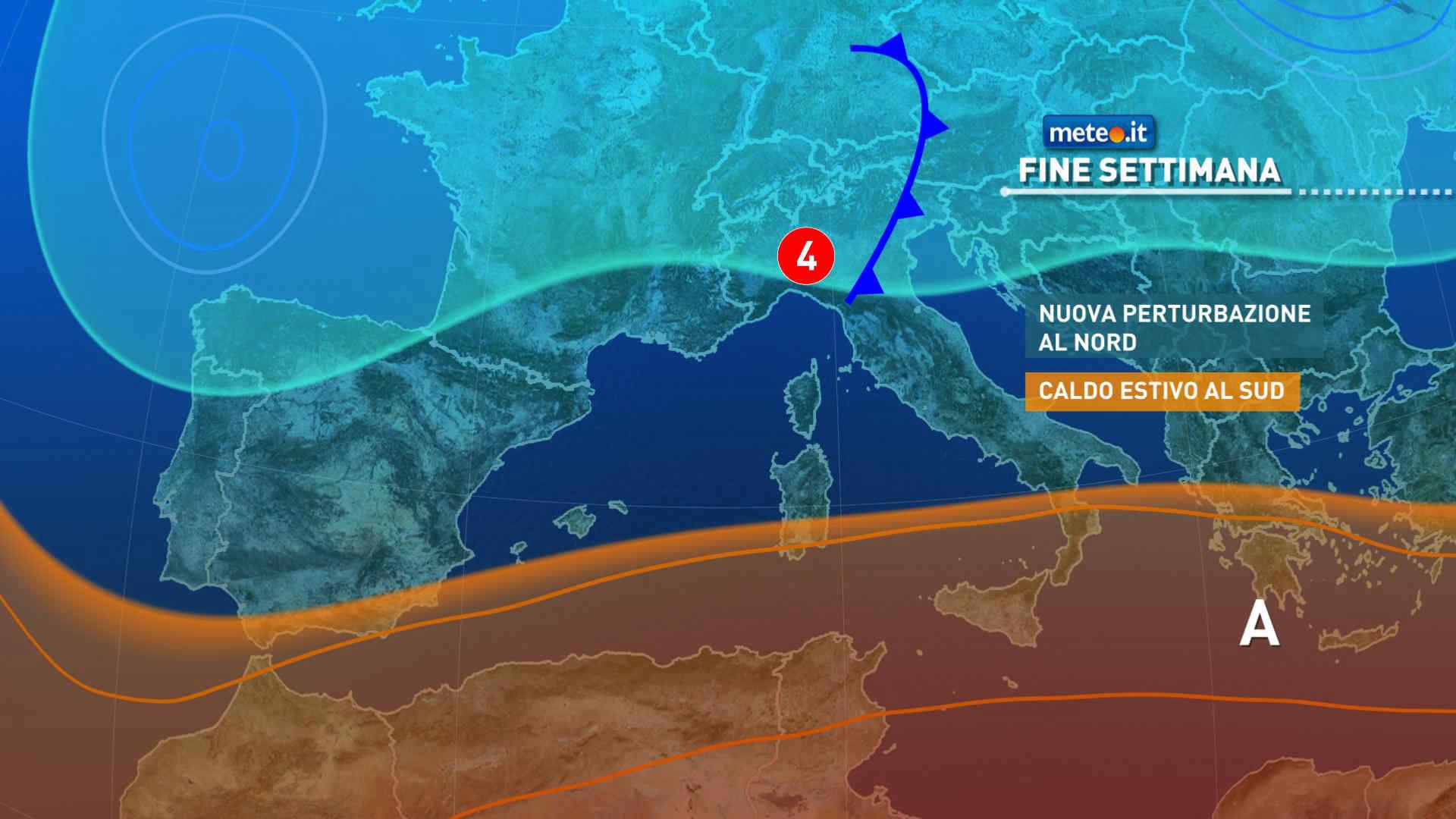 Previsioni meteo nel weekend del 18 e 19 settembre