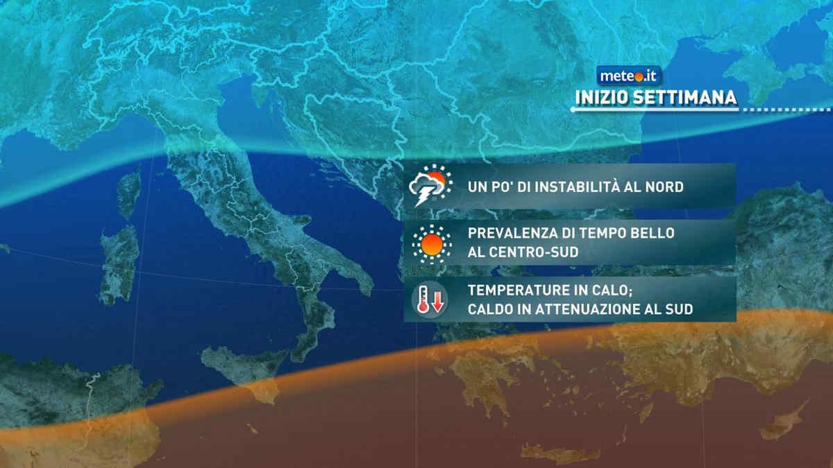Meteo, martedì 21 tempo ancora instabile in diverse regioni