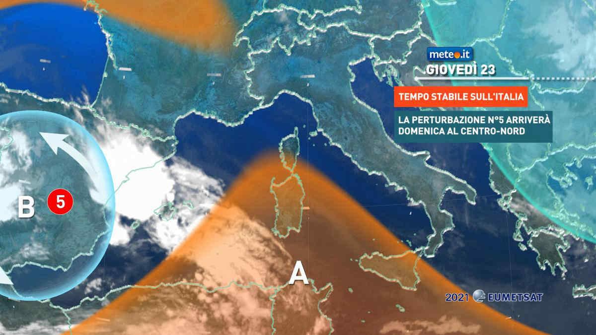 Meteo, 23 settembre con caldo in aumento
