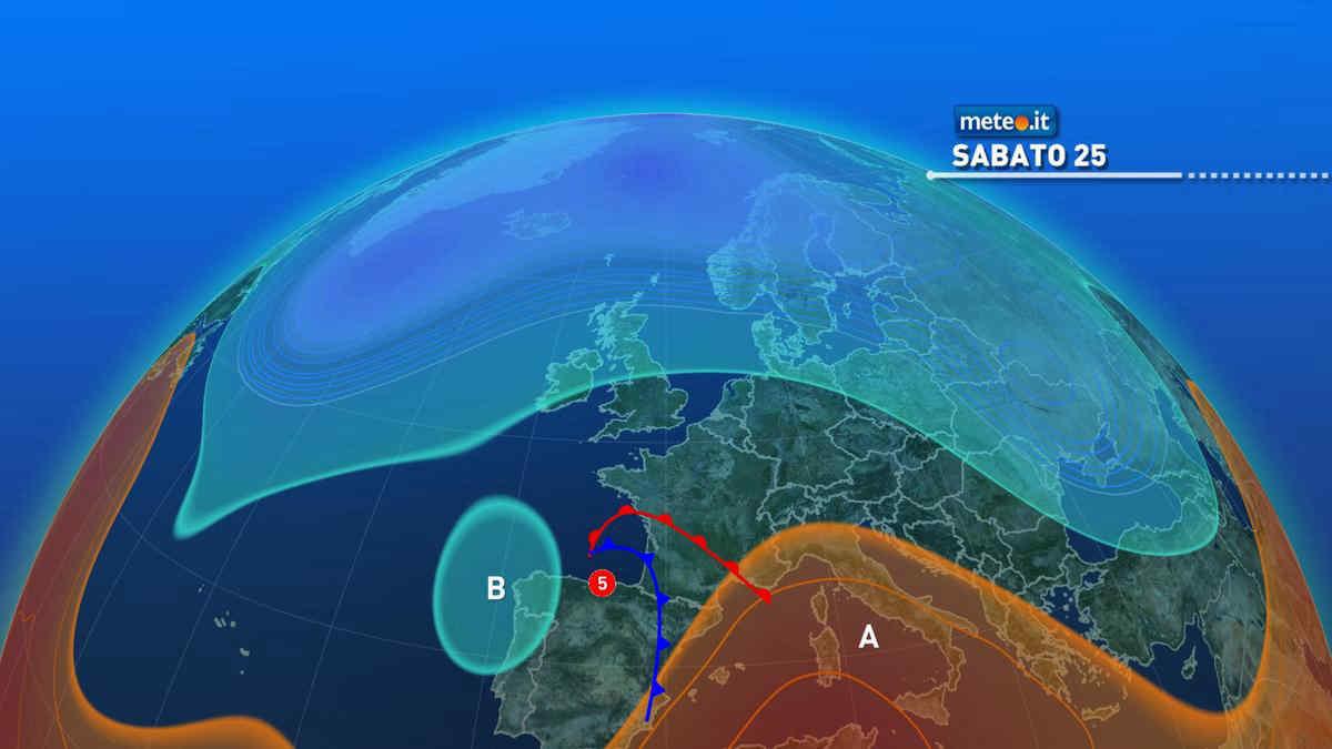Meteo domani: Italia divisa con maltempo al nord e caldo al sud