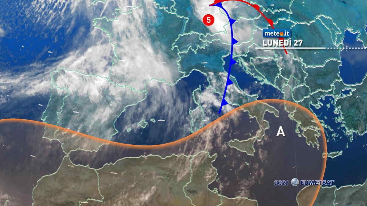 Meteo, 27 settembre instabile al Centro e al Nordest. Caldo al Sud