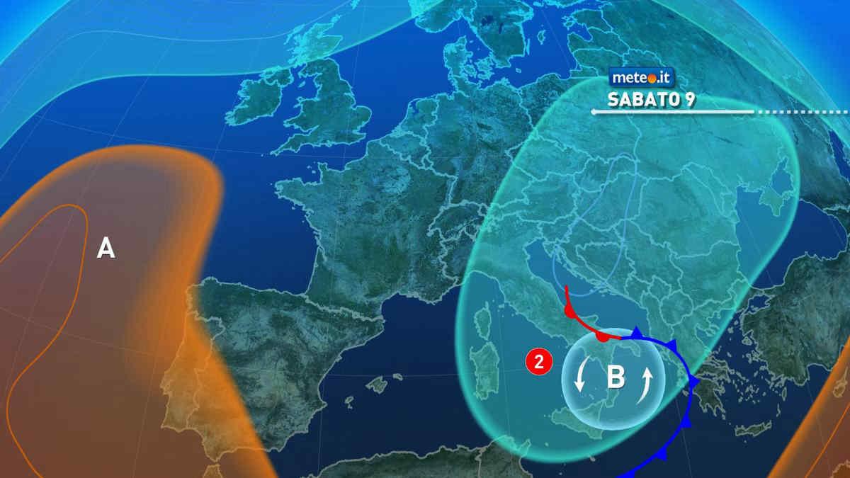 Previsioni meteo sabato