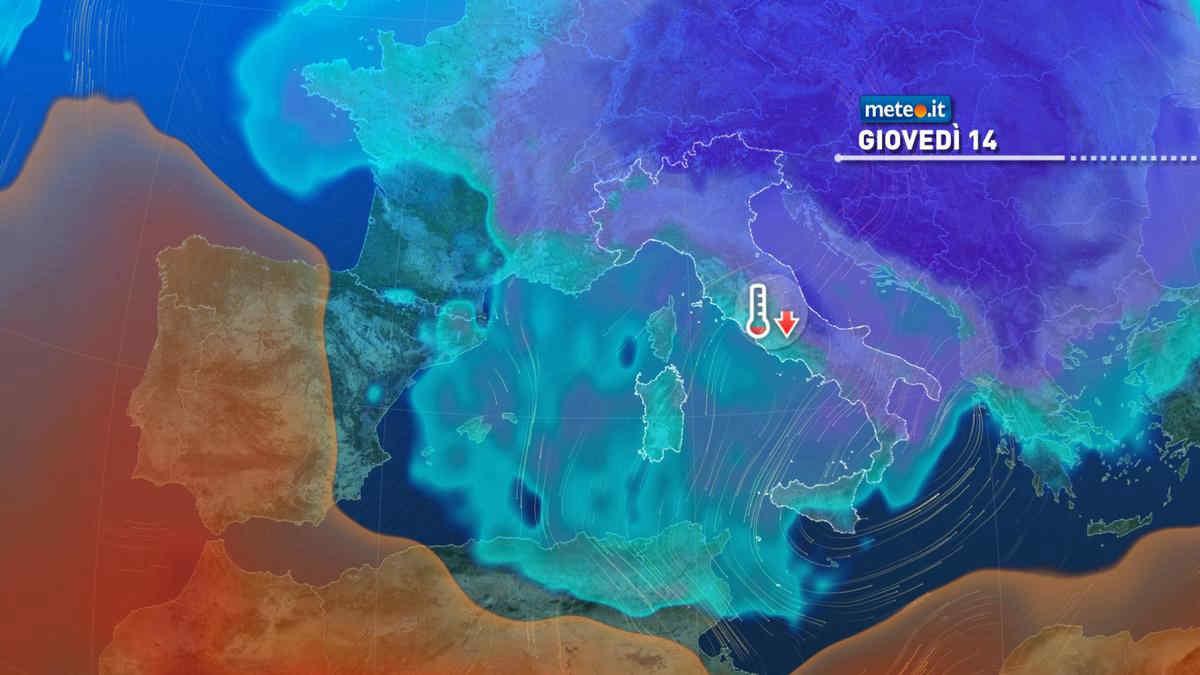 Meteo: aria fredda e maltempo fino a giovedì 14 ottobre, migliora da venerdì