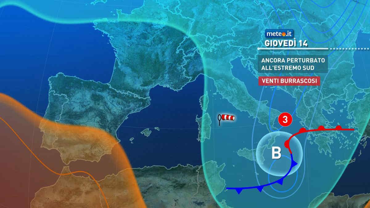 Meteo, giovedì 14 ottobre fredde correnti polari