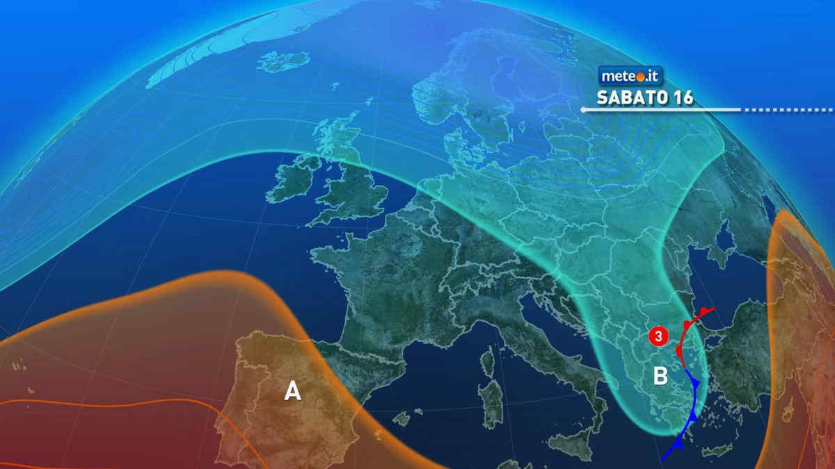 Meteo, weekend del 16-17 ottobre con alta pressione e rialzo termico