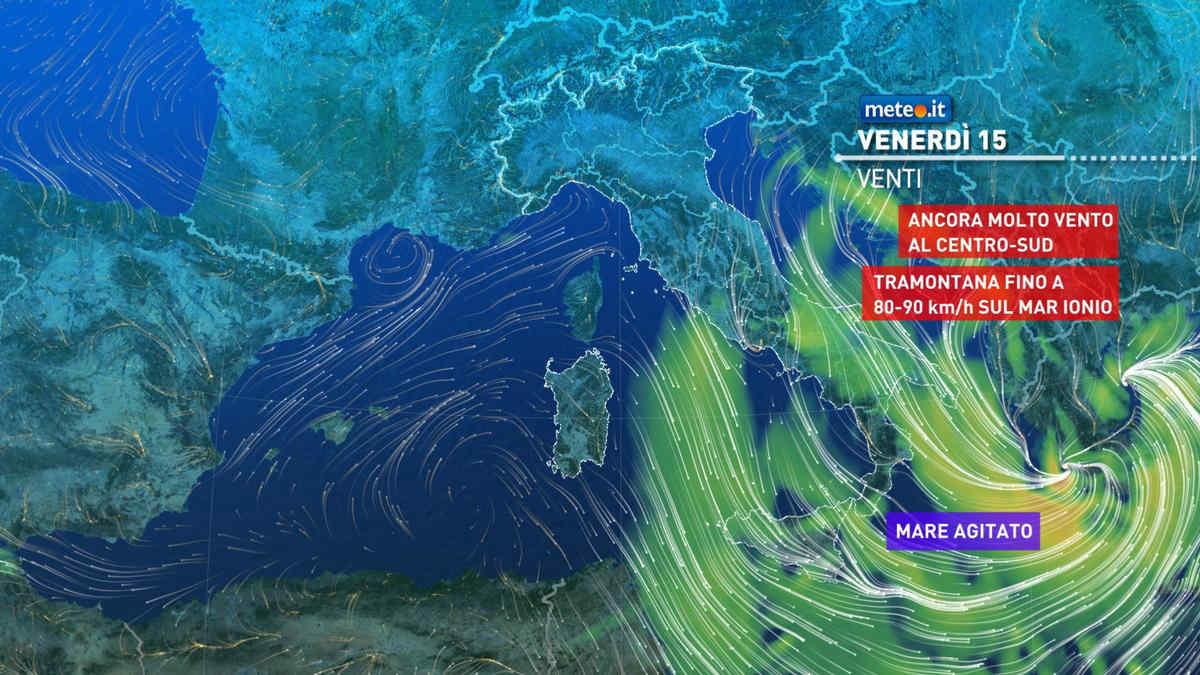 Meteo 15 ottobre: clima freddo e venti di burrasca, migliora nel weekend