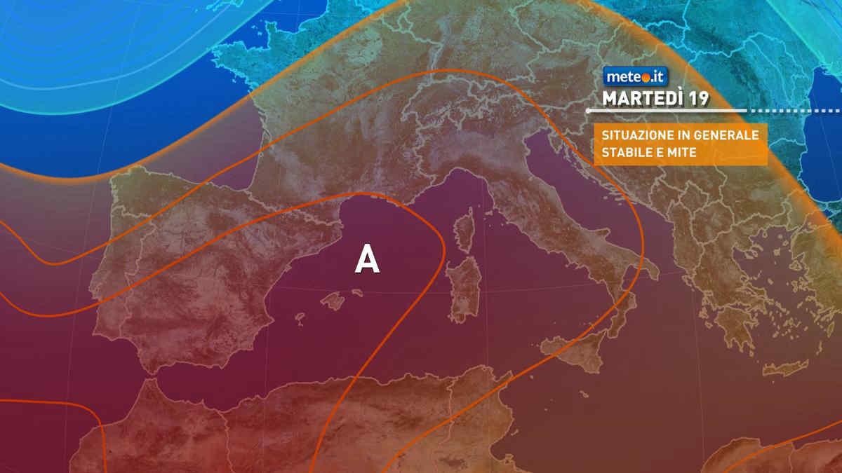 Meteo, alta pressione protagonista anche dopo lunedì 18 ottobre