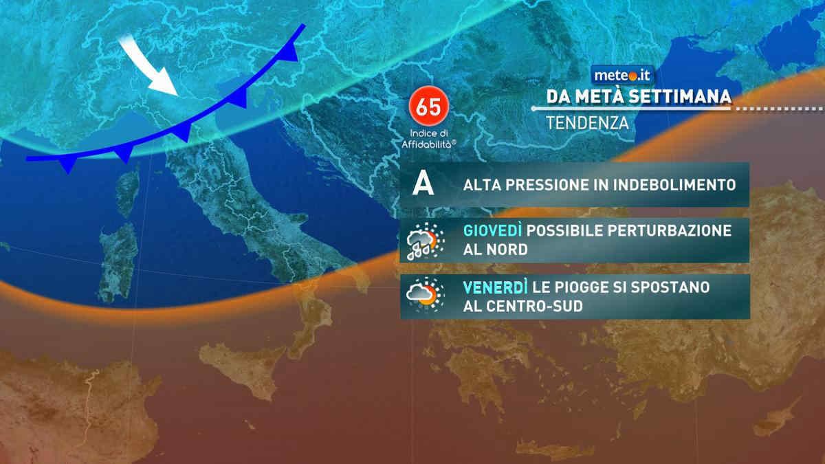 Meteo, da giovedì 21 nuova perturbazione sull'Italia