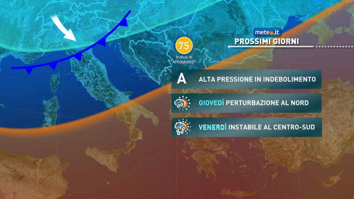 Meteo, dal 21 ottobre nuove fasi piovose su alcune regioni