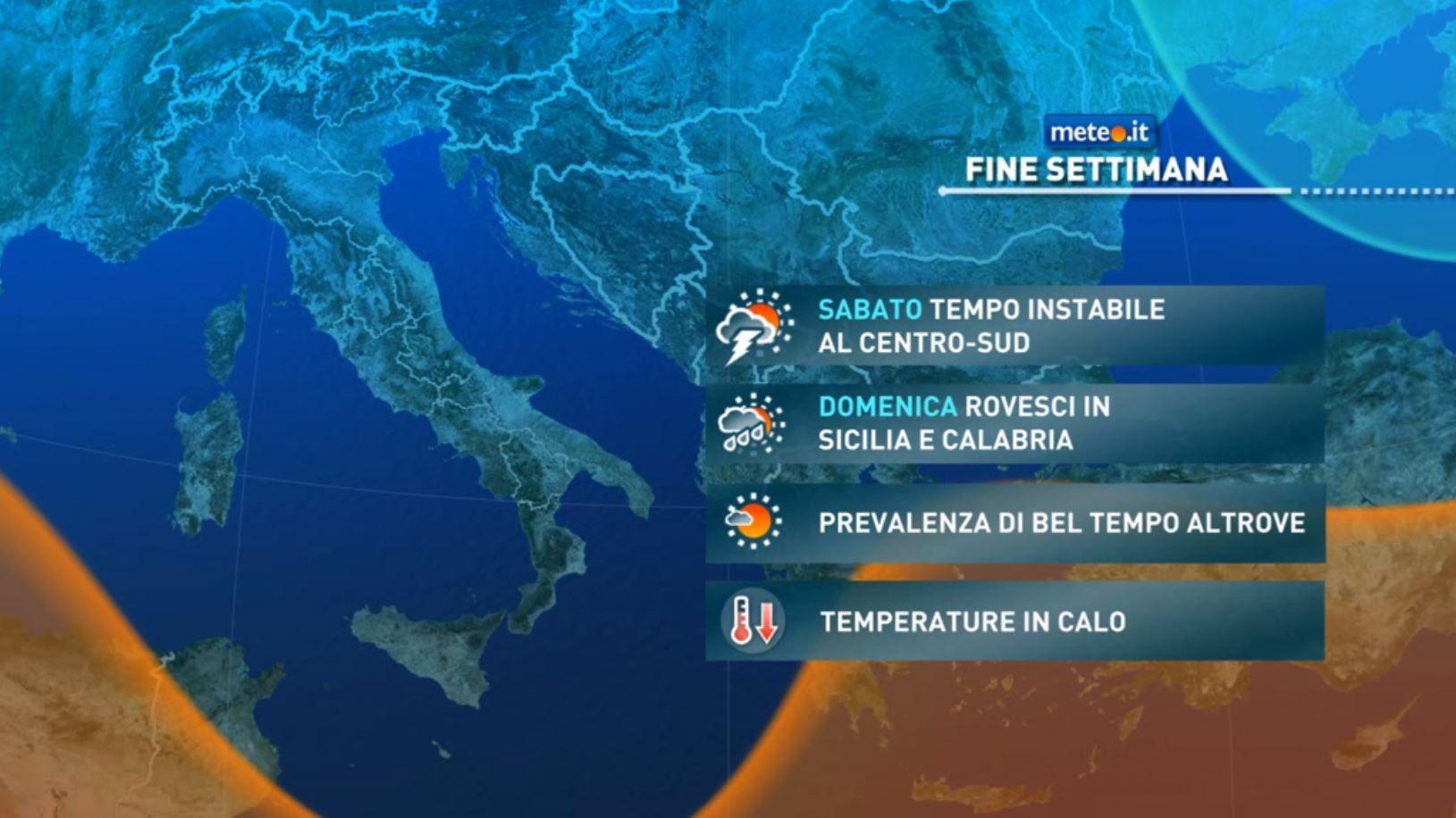 Meteo, nel weekend del 23 e 24 tempo a tratti instabile e aria più fredda in arrivo