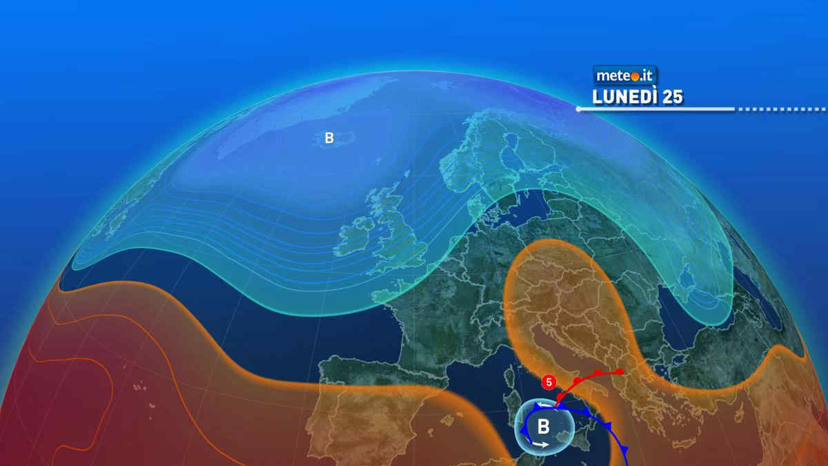 Meteo, lunedì 25 ottobre forte maltempo al Sud. Situazione critica