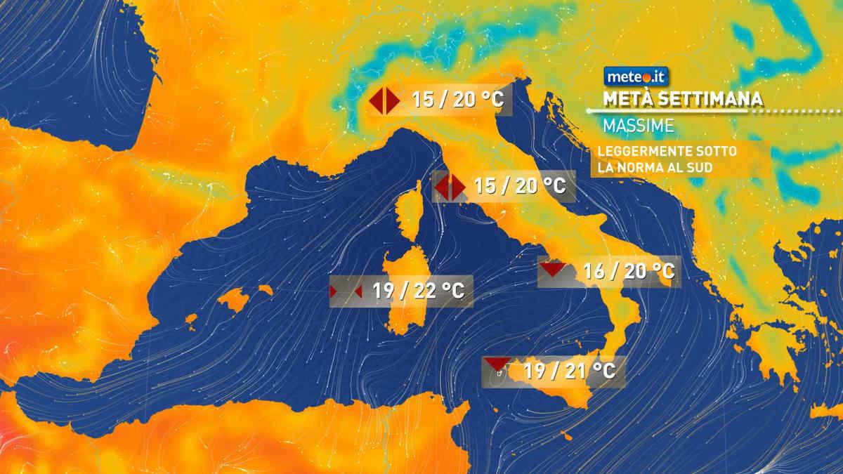 Meteo, maltempo insistente: fino a sabato 30 ottobre rischio di piogge abbondanti all'estremo Sud