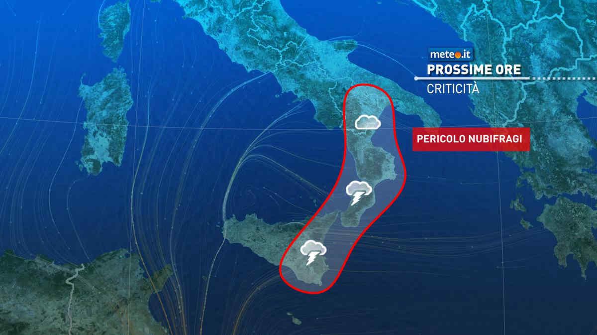 Meteo, lunedì 25 di forte maltempo all'estremo Sud: rischio nubifragi tra Sicilia e Calabria