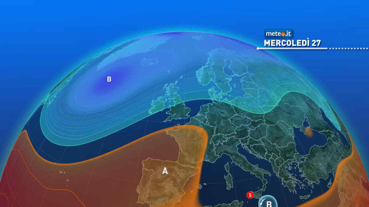Meteo, mercoledì 27 il maltempo concede una breve tregua all'estremo Sud