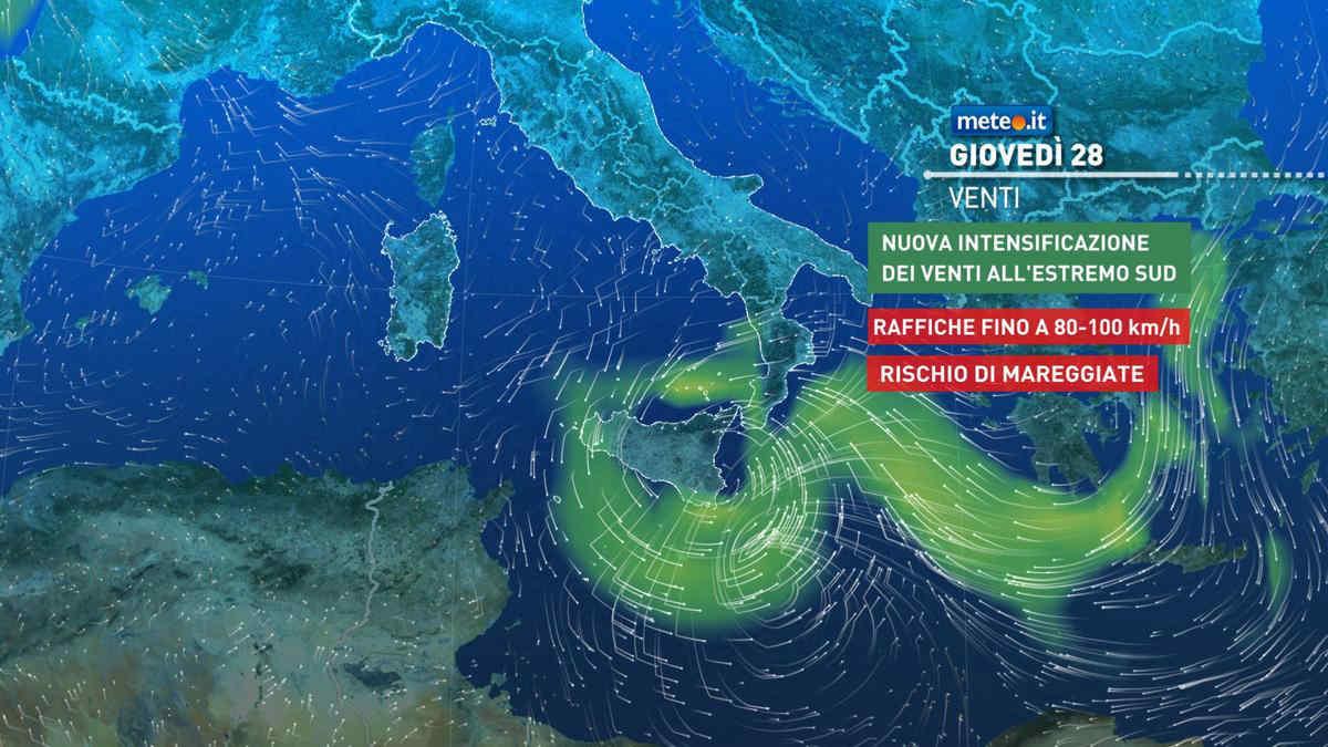 Meteo 28 ottobre: venti di tempesta e rischio nubifragi. Gli aggiornamenti