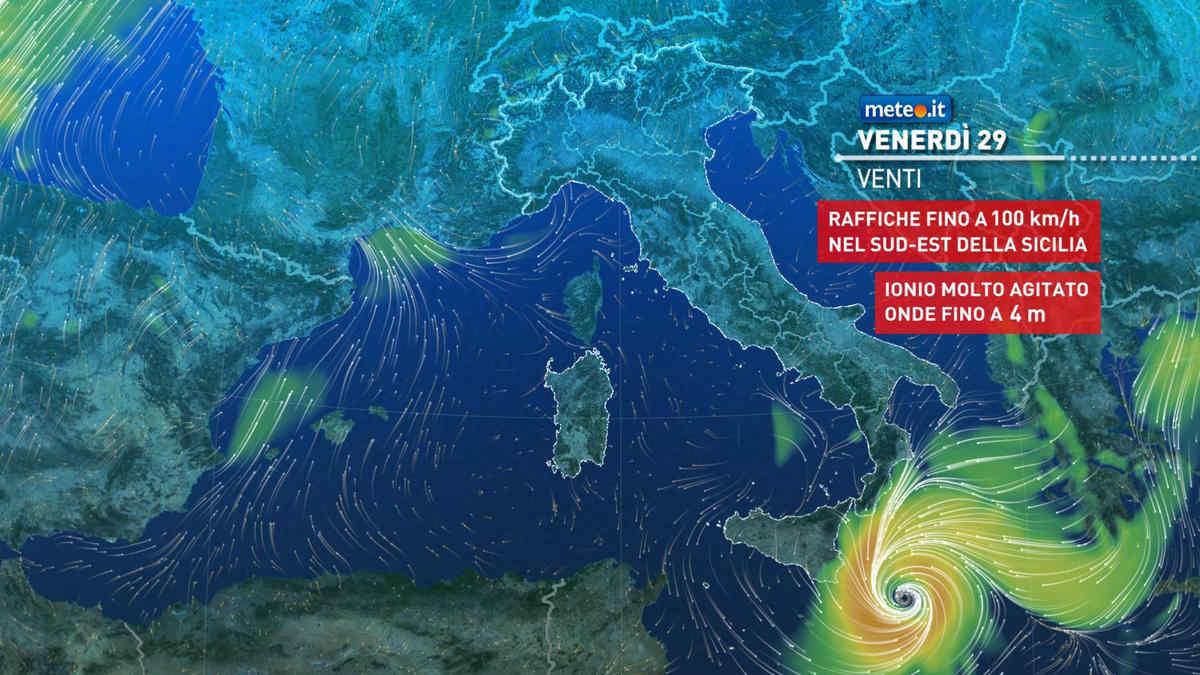 Meteo 29 ottobre, rischio alluvioni e venti di tempesta: arriva il Medicane